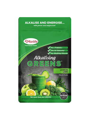 Morlife Alkalising Greens® Lemon Lime 300g Pouch