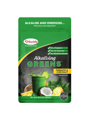 Morlife Alkalising Greens® Pineapple Coconut 100g Pouch
