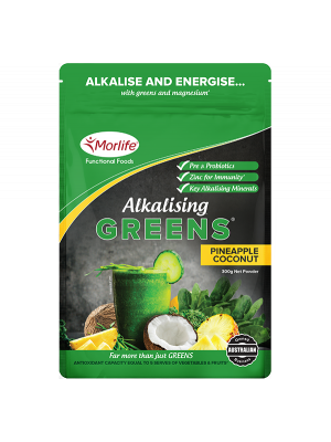 Morlife Alkalising Greens® Pineapple Coconut 300g Pouch