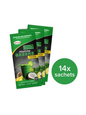 Morlife Alkalising Greens® Pineapple Coconut 14x10g Handypack