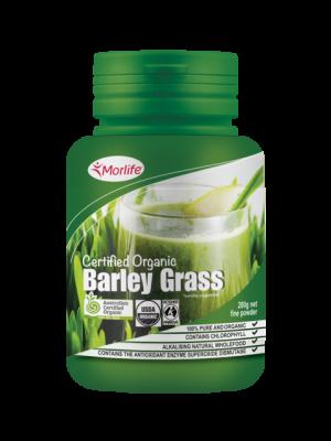 Morlife Barley Grass Certified Organic 200g