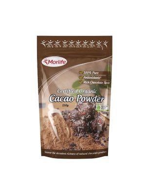 Morlife Cacao Powder Certified Organic 150g