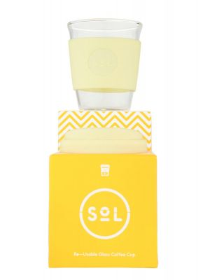 Sol Cups 12oz Cup Yummy Yellow 355ml