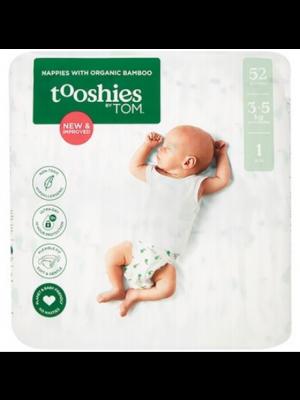 TOOSHIES BY TOM Organic Bamboo Nappies Newborn 2x52