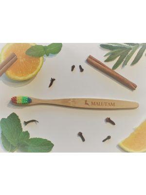 Rainbow Bamboo Toothbrushes x 2-Rainbow
