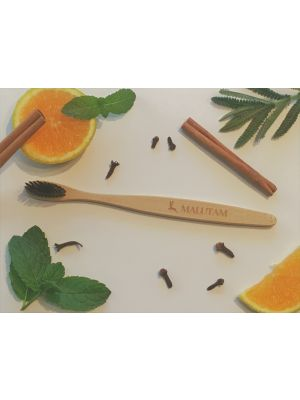 Charcoal Bamboo Toothbrushes x 2