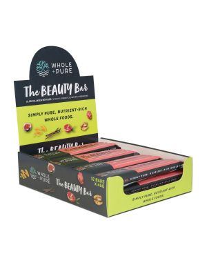 Whole and Pure Beauty Bar Goji and Walnut 12 Bar Box