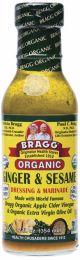 BRAGG S/Dressing Ginger Sesame 354ml
