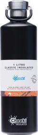 CHEEKI Stainless Steel Bottle Insulated - Matte Black 1L