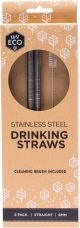 EVER ECO Stainless Steel Straws - Straight 8mm x2