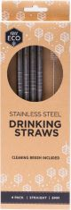 EVER ECO Stainless Steel Straws - Straight 8mm x4