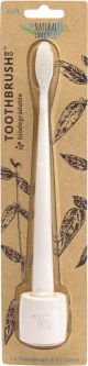 The Natural Family Co Bio Toothbrush & Stand Soft - Ivory Desert