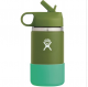 HYDRO FLASK Wide Mouth Kids Bottle - Straw Lid Double Insulated - Olive