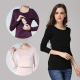 Long Sleeve Thermal Nursing Maternity Basic Top
