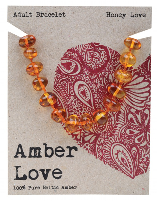 AMBER LOVE Honey Adult Bracelet 20cm