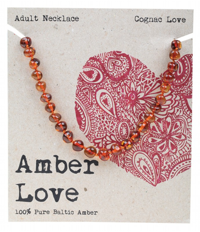 AMBER LOVE Cognac Adult Necklace 46cm