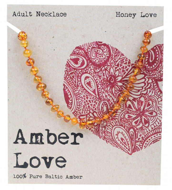 AMBER LOVE Honey Adult Necklace 46cm