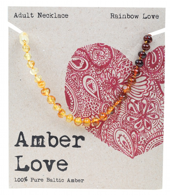 AMBER LOVE Rainbow Adult Necklace 46cm