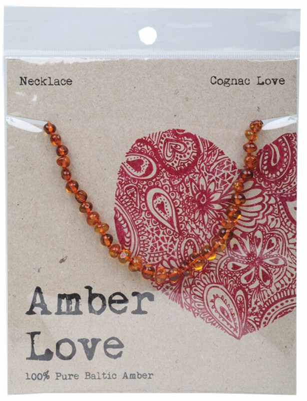 AMBER LOVE Cognac Child Necklace 33cm