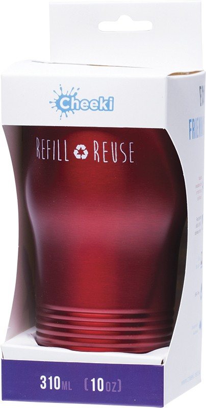 CHEEKI Coffee Cup Cherry Red 310ml