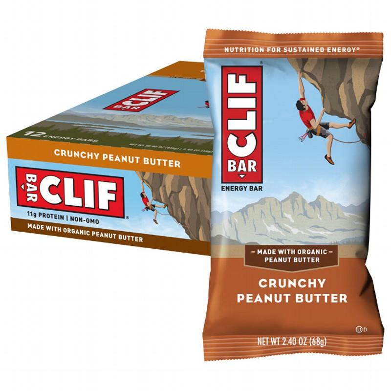 CLIF BAR Crunchy Peanut Butter 12x68g