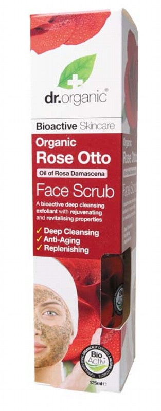 Dr Organic Rose Face Scrub 125ml