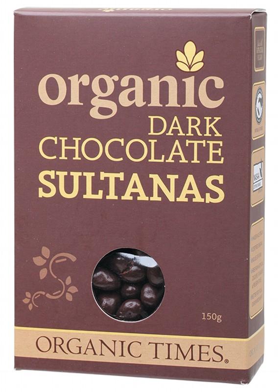 ORGANIC TIMES Chocolate Sultanas 150g