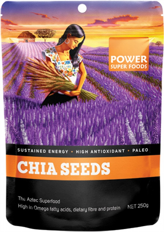 POWER SUPER FOODS Chia Seeds Black+White 250g
