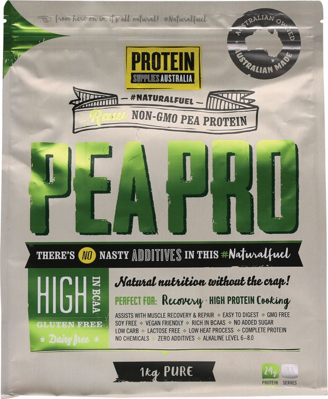 PROTEIN SUPPLIES AUST. Pea Protein Isolate 1kg