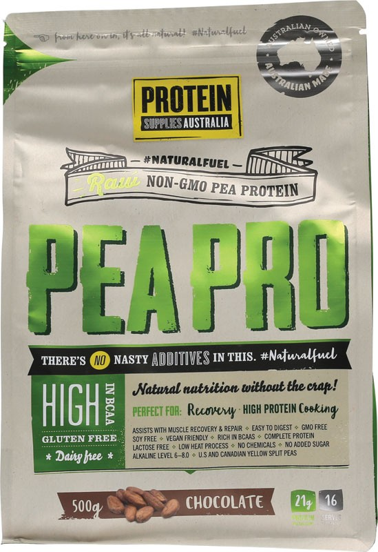 PROTEIN SUPPLIES AUST. Choc Pea Protein Isolate 500g