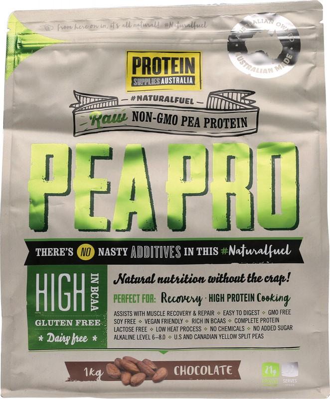 PROTEIN SUPPLIES AUST. Choc Pea Protein Isolate 1kg