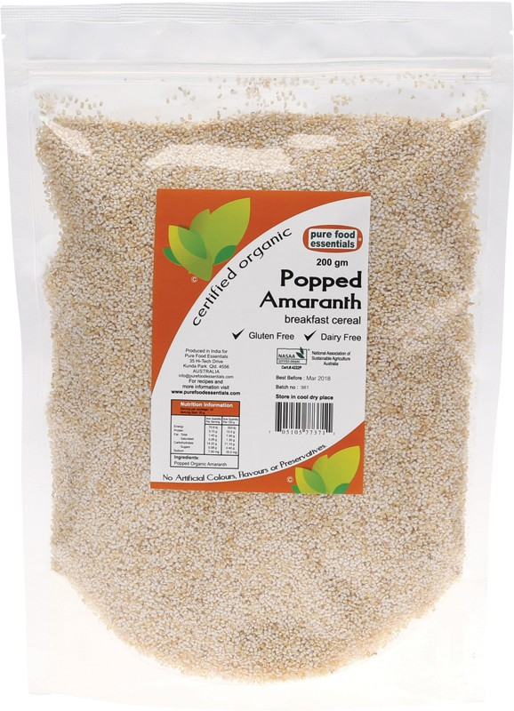 Pure Food Essentials Popped Amaranth 200g