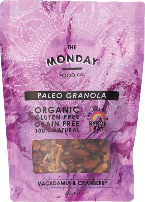 MONDAY FOOD CO. Granola Macadamia & Cranberry 300g