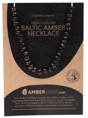 AMBERBEBE Walnut Child Necklace 33cm