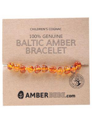 AMBERBEBE Cognac Child Bracelet 14cm