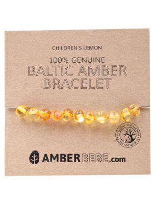 AMBERBEBE Lemon Child Bracelet 14cm