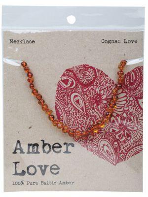 AMBER LOVE Cognac Child Necklace 33cm