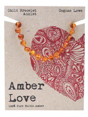 AMBER LOVE Cognac Child Bracelet 14cm