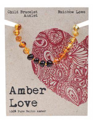AMBER LOVE Rainbow Child Bracelet 14cm