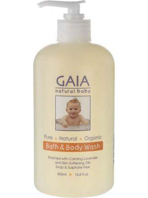 Gaia Natural Baby Baby Bath & Body Wash 500ml