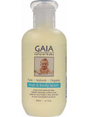 Gaia Natural Baby Baby Hair & Body Wash 200ml