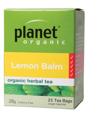 Planet Organic Lemon Balm Tea Bags 25 bags