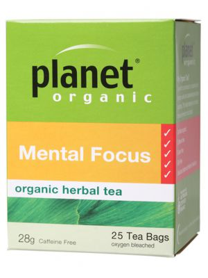 Planet Organic Mental Focus Tea Bags 25 bags