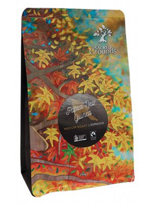 SACRED GROUNDS PNG Coffee For Espresso 250g