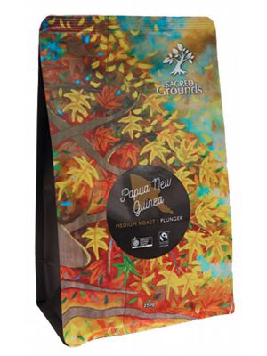 SACRED GROUNDS PNG Coffee For Plunger 250g